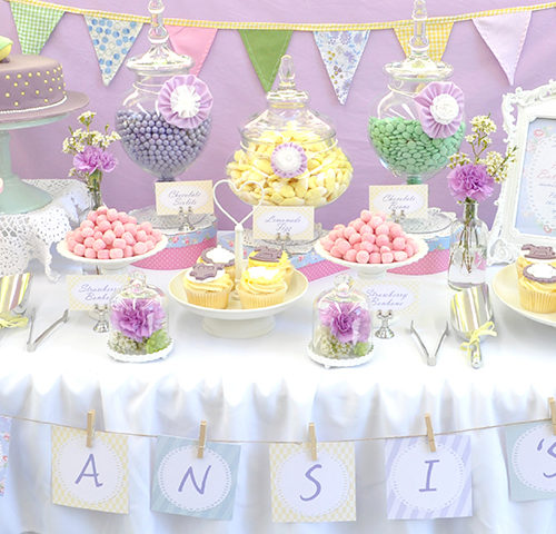 Mansi's Vintage Pastel Baby Shower by A&K