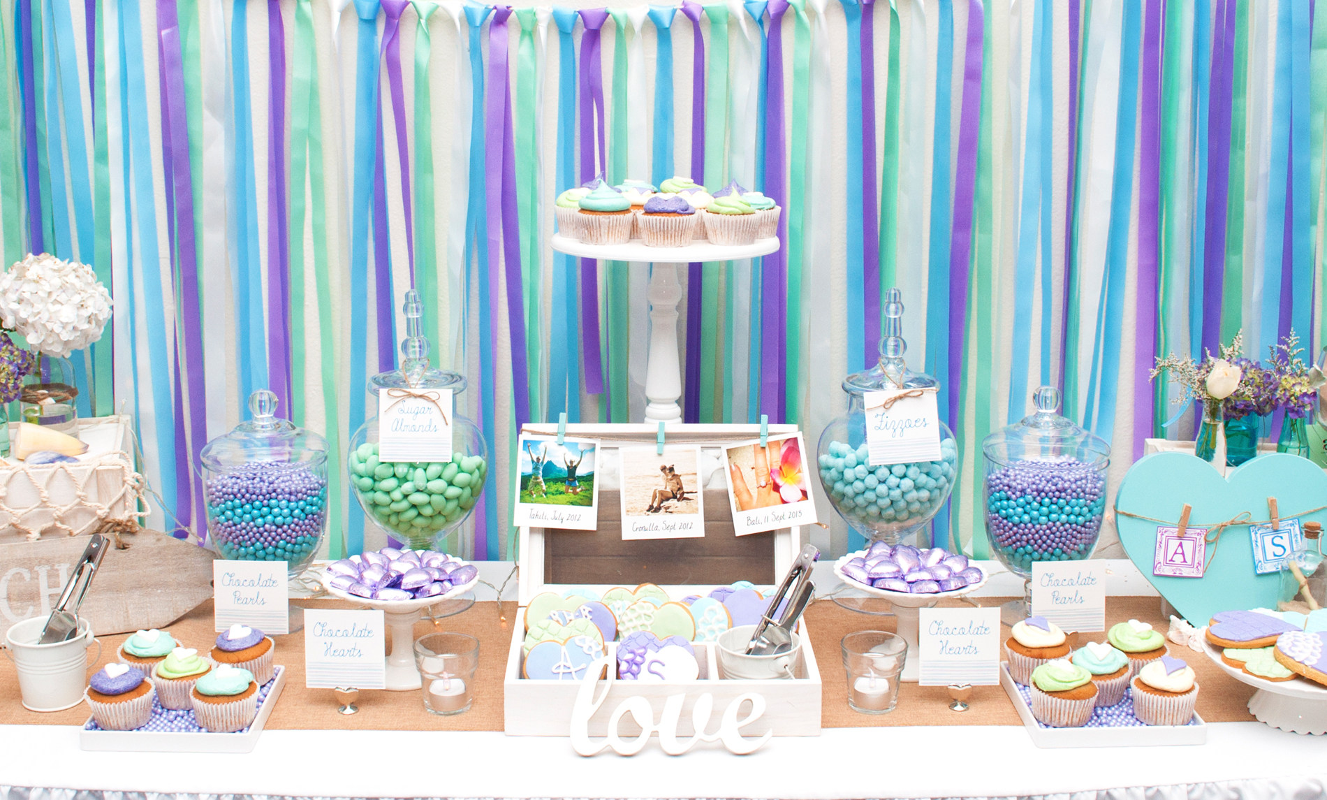 Beach Coastal themed Dessert Buffet by A&K