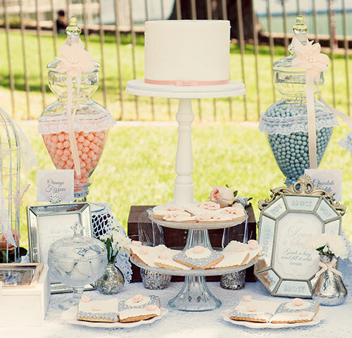 Joanne & Leo's Vintage French themed Wedding dessert table by A&K Lolly Buffet