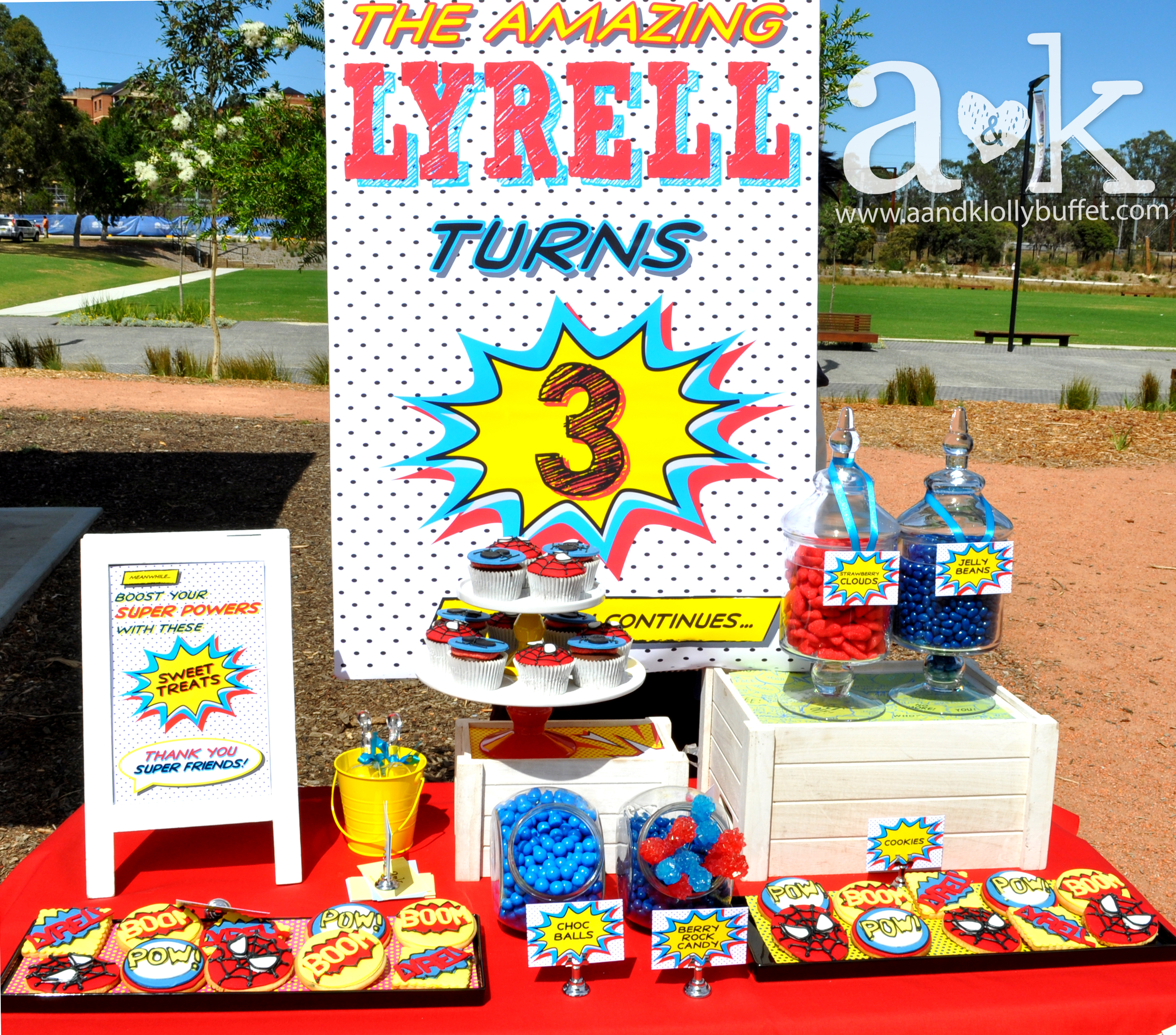 Lyrell's 3rd Birthday Spiderman Themed Dessert Buffet by A&K