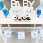 "Nadine's ""It's A Boy"" Blue Baby Shower Lolly Buffet by A&K"