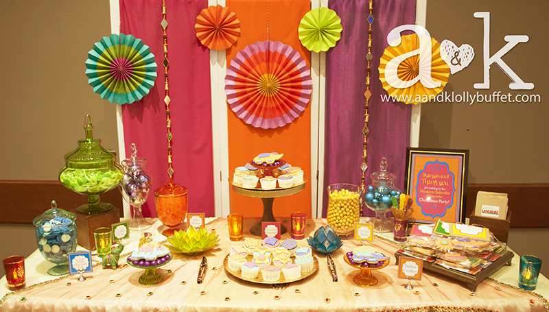 WSC's Colourful Bollywood Inspired Christmas Party Dessert Buffet by A&K.