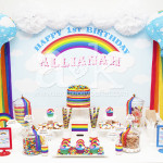 Allianah's 1st Birthday Rainbow Dessert Buffet by A&K.