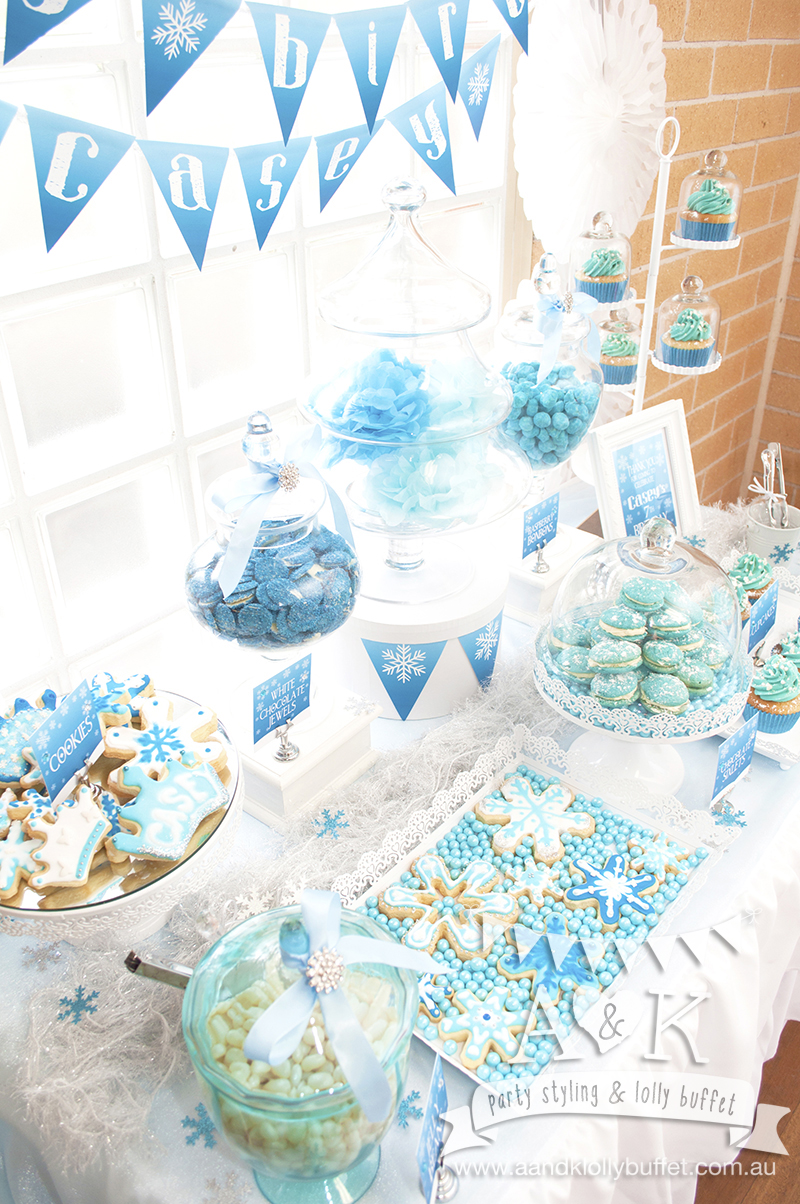 Winter blue desserts and lollies for casey s frozen inspired dessert