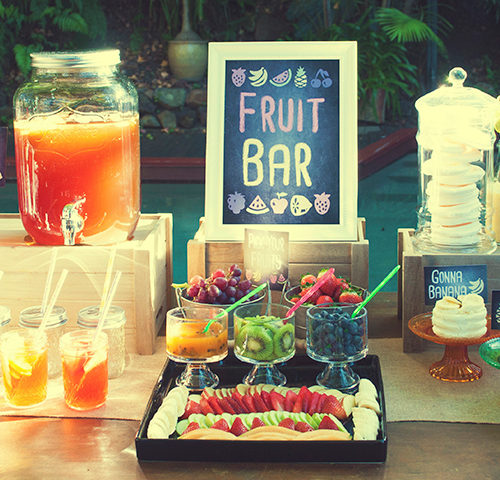 Funky fruit bar & drink station by A&K Lolly Buffet
