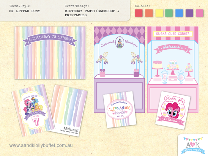 Pony My Little Pony Party Supplies Lifes Little Celebration