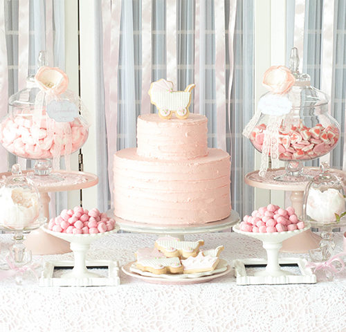 Michelle's Pretty in Pink Baby Shower by A&K Lolly Buffet