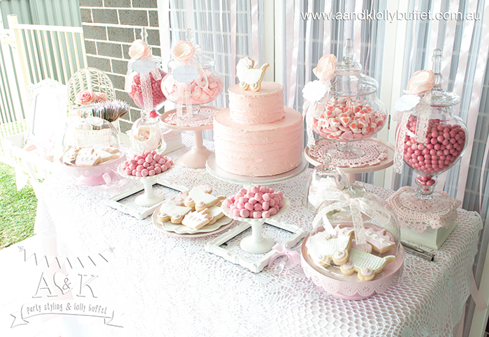 Nice Michelleu0027s Pretty In Pink Baby Shower Dessert Table By Au0026K.