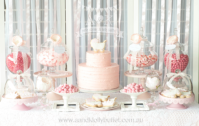 Michelles Pretty In Pink Baby Shower Dessert Buffet