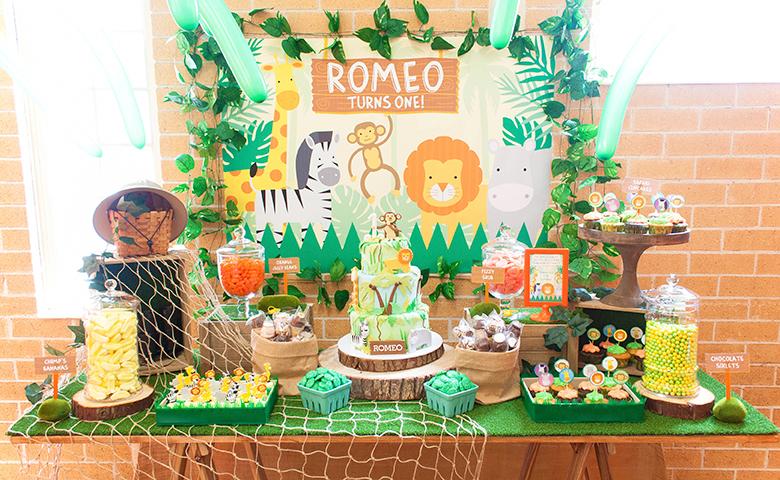 Romeo S Jungle Safari Birthday A K Lolly Buffet