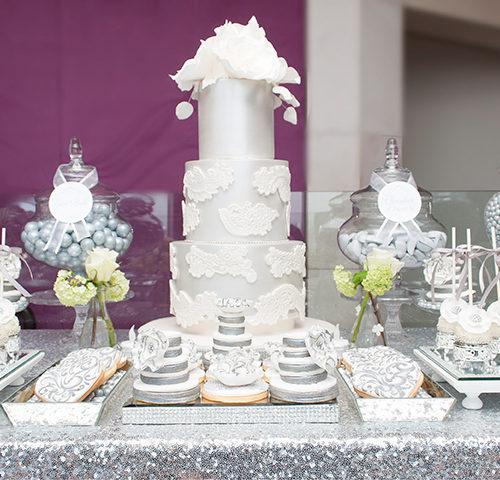 Andrej & Joyce's Elegant Wedding dessert table by A&K Lolly Buffet