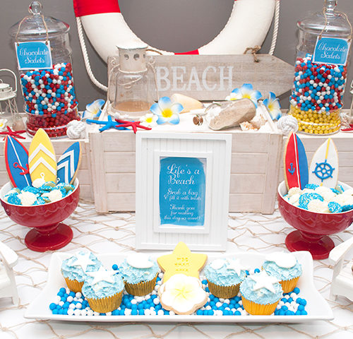 WSC Beach Themed Christmas Party by A&K Lolly Buffet