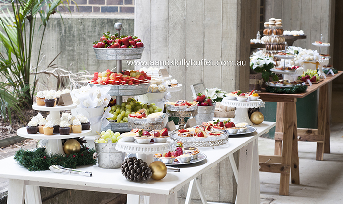 Faculty of Arts' Festive Rustic Luxe Christmas Dessert Table by A&K Lolly Buffet