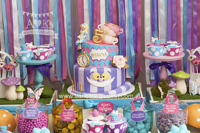 Th Birthday Mad Hatters Tea Party Cake