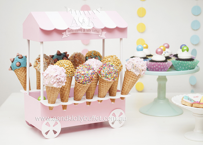 Astra's Sweet Pastel Birthday Afternoon Tea Party by A&K Lolly Buffet