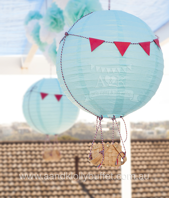 Marcus' Planes & Hot Air Balloon themed 1st Birthday Party by A&K Lolly Buffet