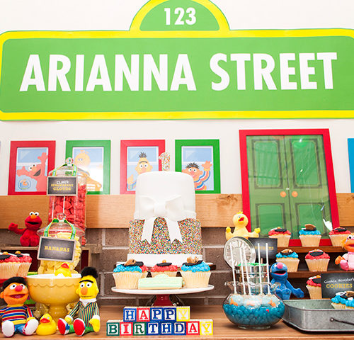 Arianna's Sesame Street 1st Birthday dessert table by A&K