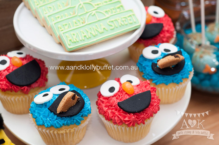Arianna's Sesame Street themed 1st Birthday Party by A&K Lolly Buffet