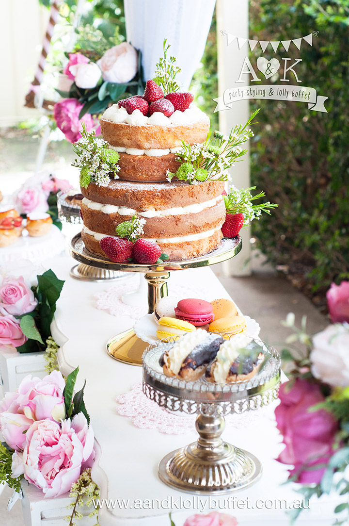Dolly & Athena's Spring Afternoon Tea Birthday Party by A&K Lolly Buffet