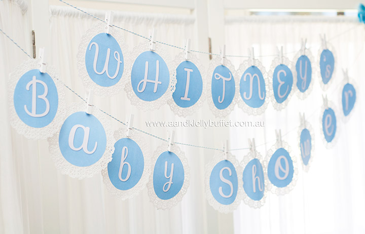 Whitney's Little Prince Blue Baby Shower by A&K Lolly Buffet