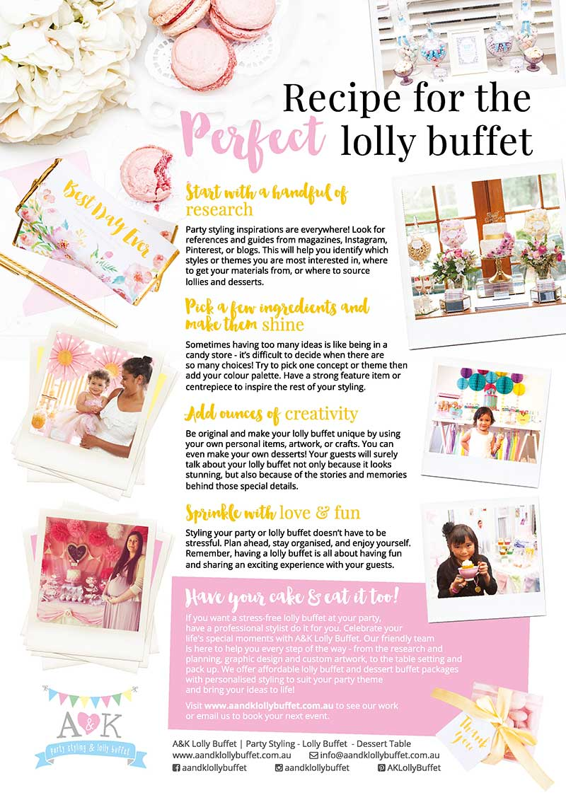Recipe for the Perfect Lolly Buffet by A&K Lolly Buffet
