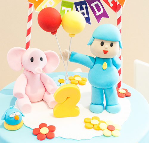 Skye's Pocoyo themed 2nd Birthday dessert table by A7K