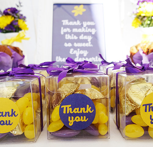 Sydney Relay for Life's Purple & Yellow dessert table by A&K