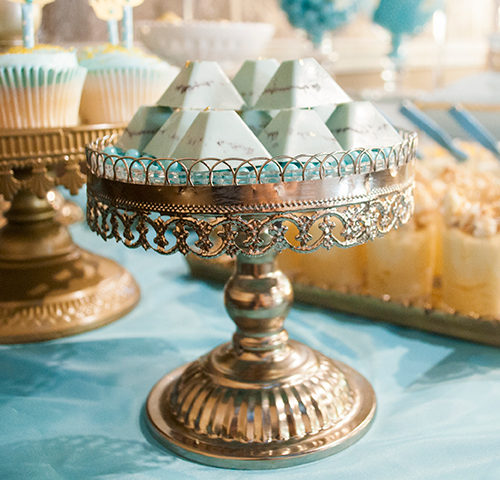 Lucas' Blue & Gold Royal Prince themed Christening dessert table by A&K