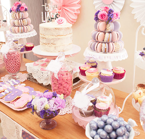 Abegaile's Pink & Purple Baby Shower by A&K