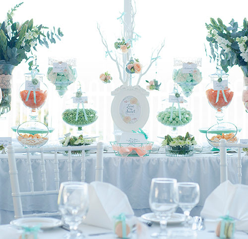 Tessa & Wayne's Floral Peach & Mint Green themed Wedding by A&K