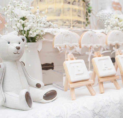 Eshara's White Shabby Chic Baby Shower by A&K