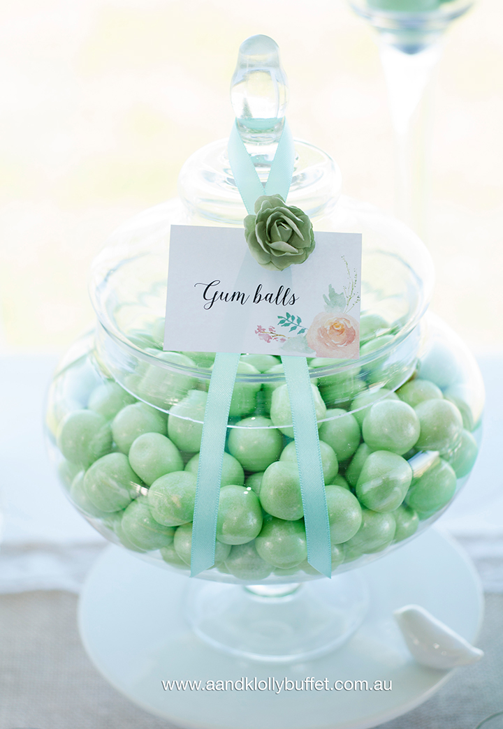 Wedding lolly buffet by A&K