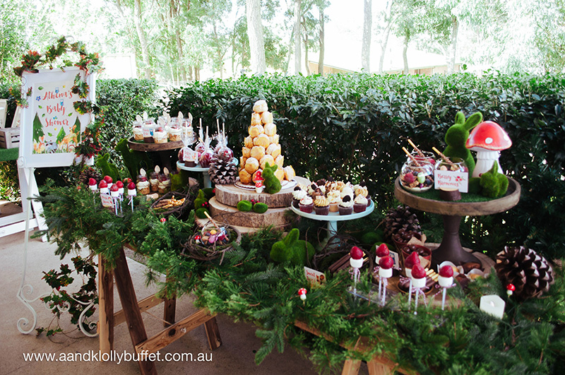 athena s woodland forest themed baby shower featuring heston