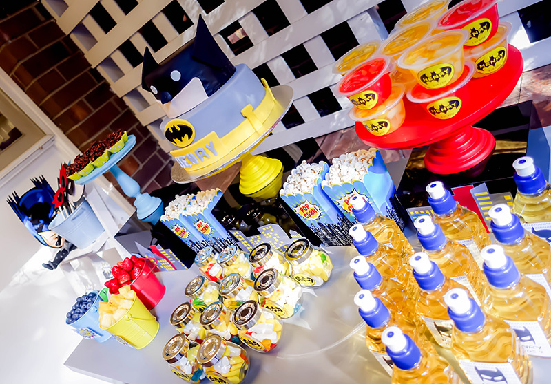 Henry's Batman Superhero themed Birthday Party by A&K Lolly Buffet