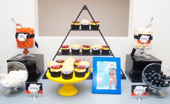 Philip's Naruto themed Birthday dessert table by A&K Lolly Buffet