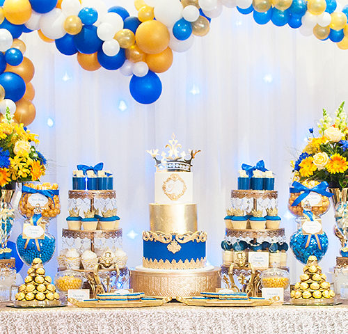 Kiaan's Royal Blue & Gold 1st Birthday party by A&K