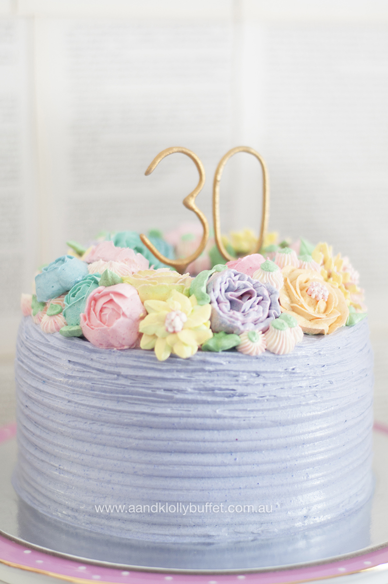 Happy's 30th Birthday Vintage Pastel Afternoon Tea Party by A&K Lolly Buffet