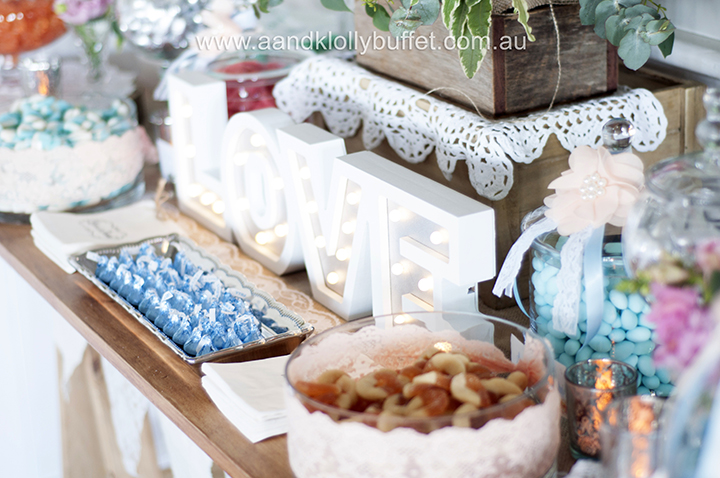 Jessica & Edwin's Vintage Classic Wedding table by A&K Lolly Buffet