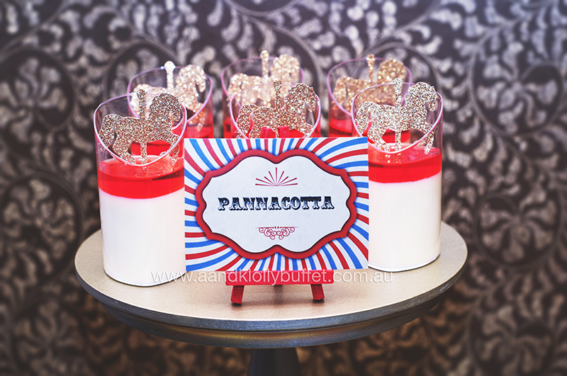 Peyton's Vintage Circus themed Dedication by A&K Lolly Buffet