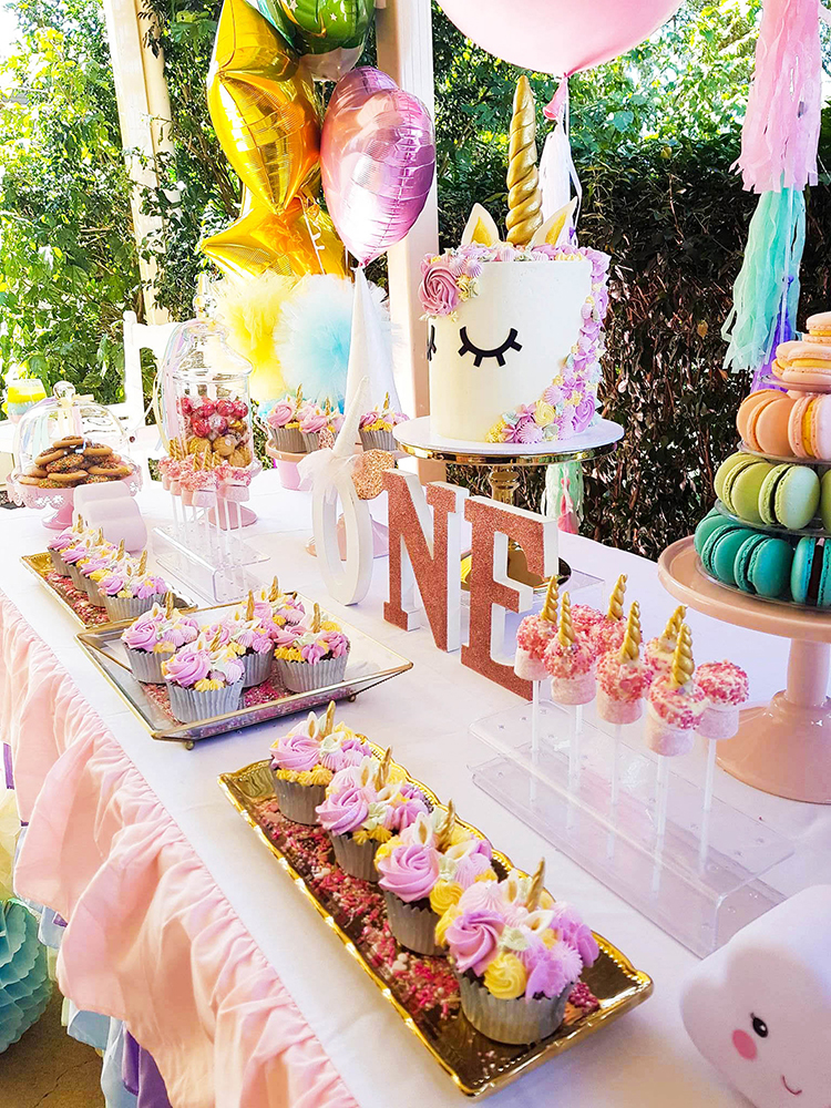 Sienna's magical unicorn themed First Birthday Party by A&K Lolly Buffet