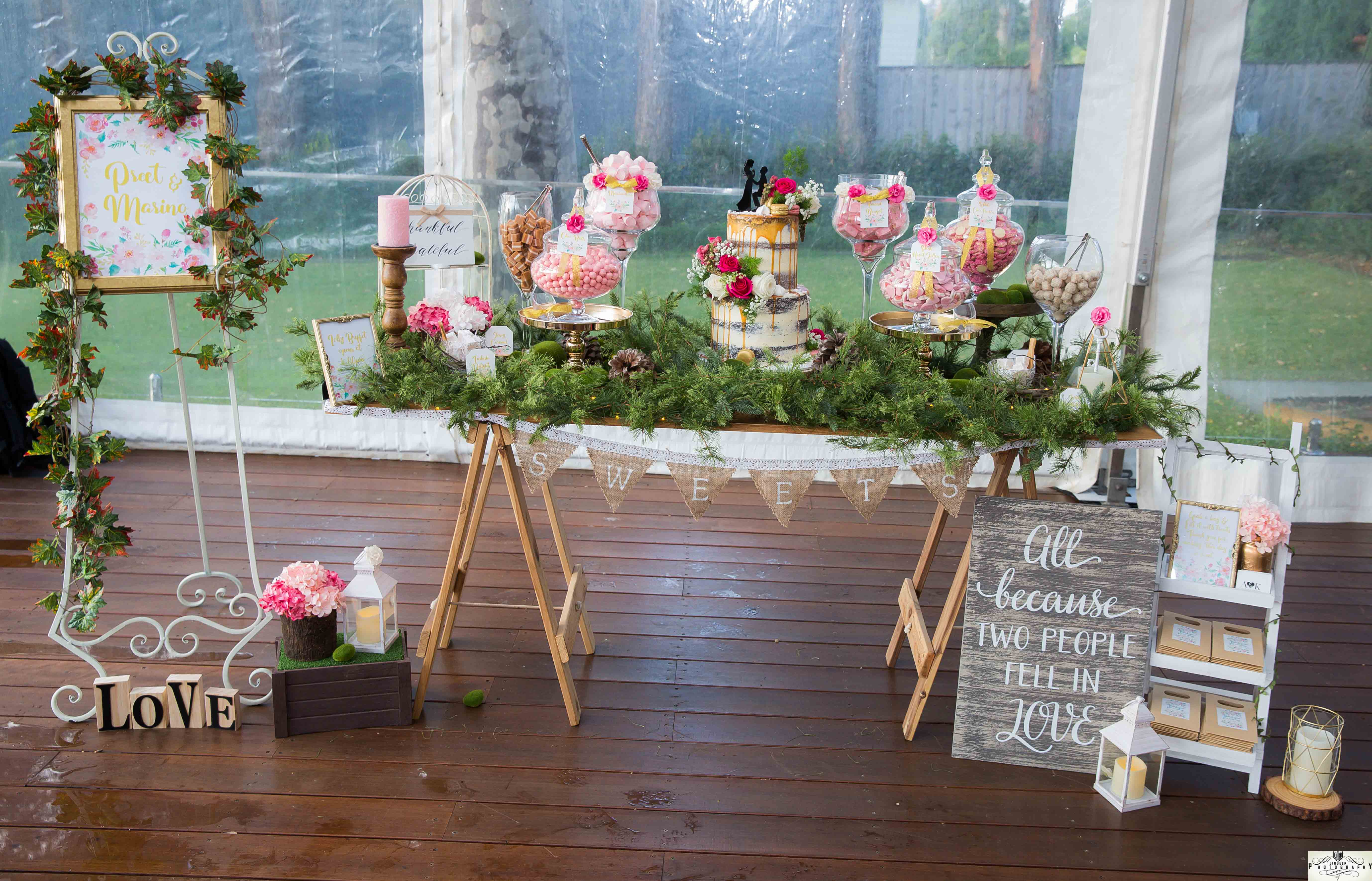 Preet & Marino's Floral Rustic themed Engagement Party Lolly Buffet by A&K