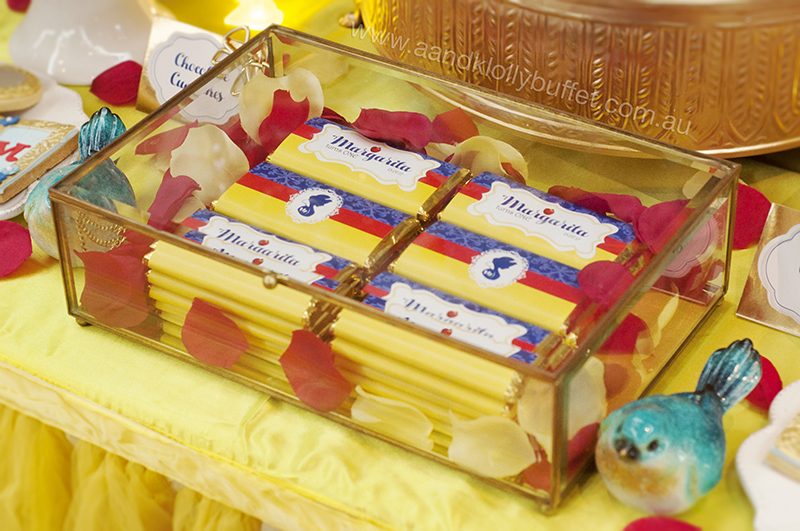 Margarita's Snow White themed 1st Birthday dessert table by A&K Lolly Buffet